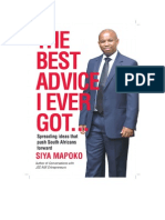 Extract from The Best Advice I Ever Got by Siya Mapoko