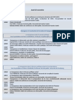 Programme La Transparence en Politique Plaquette