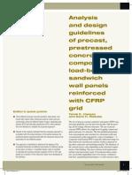 Analysis Design Guidelines Precast CFRP Grid