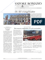 L´OSSERVATORE ROMANO. 28 Octubre 2012