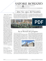 L´OSSERVATORE ROMANO. 04 Noviembre 2012