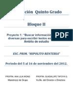 Bloque II Proyecto 1 Semana 11