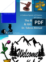 The Bluebook and ISO Method of Citation