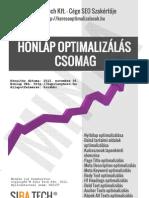 Keresőoptimalizálás - Honlap optimalizálás elemzés (Minta példány)