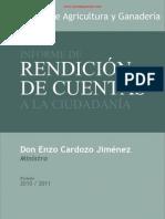 INFORME RENDICIÓN DE CUENTAS A LA CIUDADANÍA - DON ENZO CARDOZO JIMÉNEZ MINISTRO -  PERIODO 2010 2011 - PORTALGUARANI.pdf