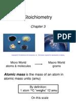 Chapter 3 Stoichiometry