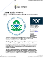 Death Knell for Coal