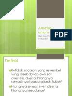 Anestesi umum