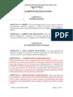 Propuesta de Modificaciones al Reglamento de Elecciones (COMTECO)