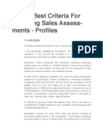 13 Best Criteria For Choosing Sales Assessments