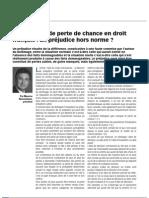 Le Prej. de Perte de Chance Opti Droit Des Affaire Oct 12