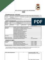 Formato Oficial de Avance de Programa de Raid