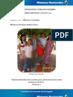 Informe Misionero a Agosto 2012 - Distrito 18 - Villanueva Guajira