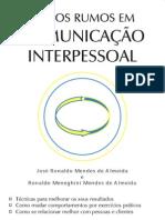 NOVOS RUMOS EM COMUNICAÇÃO INTERPESSOAL - José Ronaldo e Ronaldo Almeida -