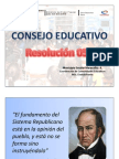 Consejo Educativo Resolución 058
