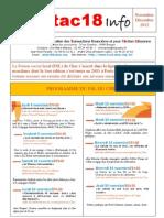 attac18 info 2012 Nov.-Déc.