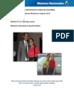Informe Misionero a Agosto 2012 - Distrito 24 - Sincelejo, Sucre.pdf