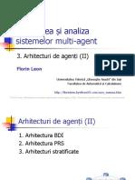 Sisteme multiagent. Arhitecturi de agenti 2
