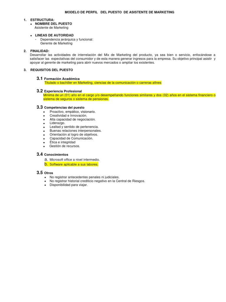 Increíble Asistente De Ventas Objetivo Cresta - Ejemplo De Colección ...