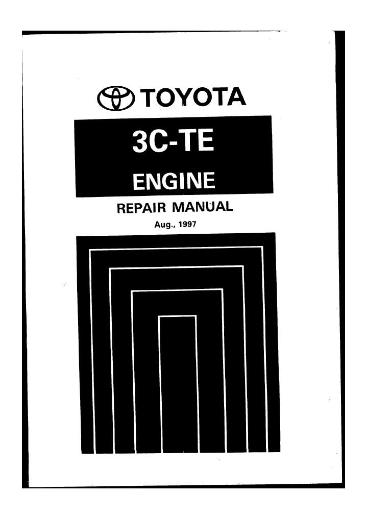 3cte engine repair manual rh scribd com toyota 3c engine workshop manual Toyota Parts