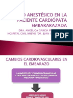 Manejo Anestesico en La Paciente Cardiopata Embararazada