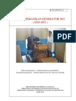 Mengoperasikan Generator Set