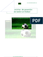 Ejercicios de posesion de balon en fútbol
