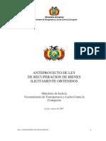 Proyecto de Ley Extencion de Dominio - Bolivia