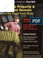Private Property & Eminent Domain In the Eagleford Shale - Town Hall