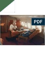George and Barbara Bush Aboard Air Force II