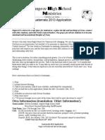 Guatemala 2013 Application