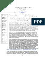 NYC-EJA Press Statement on Hurricane Sandy