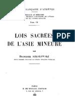 Sokolowski Fr. Lois sacrées de l'Asie Mineure. Travaux et mémoires, 9. 1955