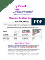 Quilting Brochure 2015
