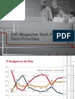 CIO Tech Poll/Tech Priorities July 2012 (Excerpt)