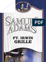 Fort Irwin Samuel Adams Grille Menu