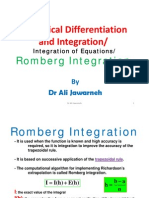 11- Numerical Differentiation and Integration-Integration of Equations-(Romberg Integration)