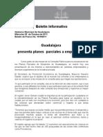 05-10-2011 Guadalajara Presenta Planes Parciales a Empresarios