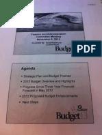 2013 budget presentation