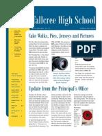 high school newsletter november