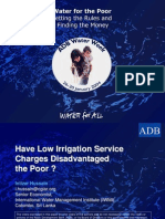 Have Low Irrigation Service Charges Disadvantaged the Poor ?