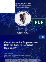 Can Community Empowerment Help the Poor to Get What they Need?