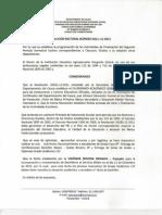 Resolución Rectoral 211-11-2012