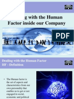 Dealing with the Human Factor inside the company