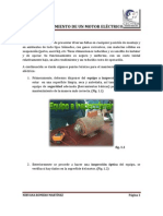 MANTENIMIENTO DE UN MOTOR ELÉCTRICO