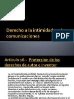Derecho a La Intimidad y a Las Comunicaciones