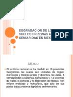 Degradacion de Los Suelos en Mexico