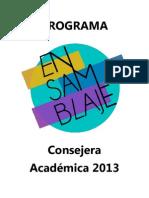 EL ENSAMBLAJE 2013 - PROGRAMA ACADÉMICA