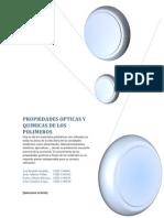 Propiedades Opticas y Quimicas de Los Polimeros Trabajo, Ok