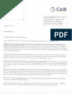 Ahmed Rehab Letter